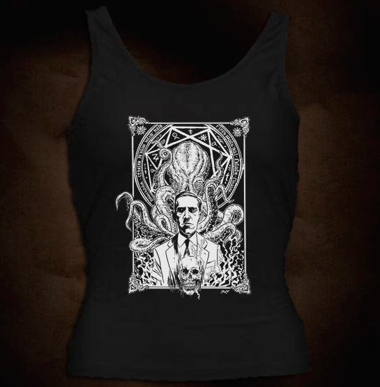 HP Lovecraft And Cthulhu One Color - Girl Tank