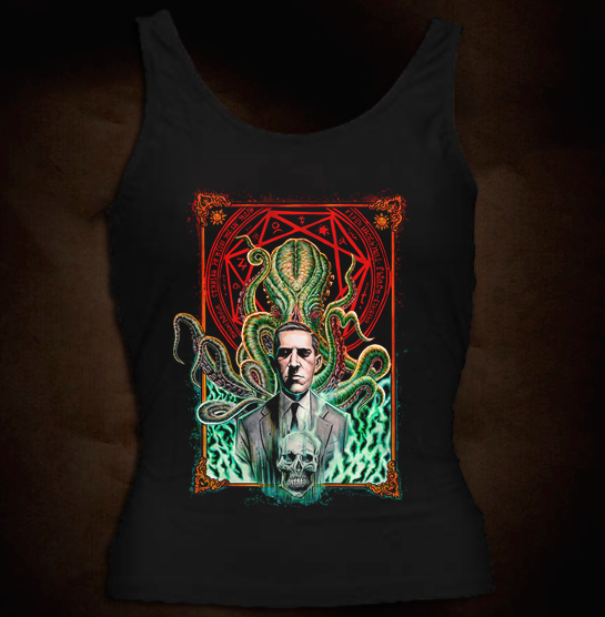 HP Lovecraft And Cthulhu Girl Tank