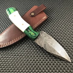 cheap damascus steel hunting knives for sale