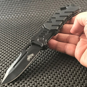 "MASTER USA 8""OUTDOOR SPRING ASSISTED TACTICAL FOLDING POCKET KNIFE EDC MU-A022BK - Frontier Blades"