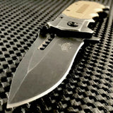 "8"" Master USA Assisted Open Stonewashed EDC Pocket Knife MU-A041TN - Frontier Blades"