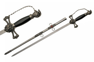 "37"" Medieval Saint Johns Templar Knights Sword W/ Scabbard For Sale (926925-BI)"