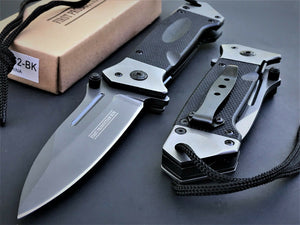 "7.75"" Military G10 Heavy Duty Assisted Tactical Rescue Pocket Knife - Frontier Blades"