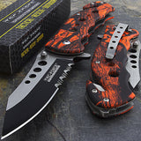 "7.75"" TAC FORCE SPRING ASSISTED TACTICAL RED CAMO FOLDING KNIFE BLADE POCKET NEW - Frontier Blades"