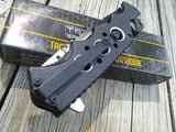 "TAC FORCE SKULL SPRING ASSISTED TACTICAL FOLDING KNIFE Pocket Open Switch 8.25"" - Frontier Blades"