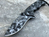 "8"" TAC FORCE CAMO ASSISTED FOLDING OUT DOOR POCKET KNIFE - Frontier Blades"