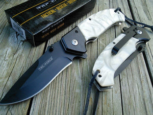 "8"" TAC FORCE ASSISTED OPEN PEARL HANDLE FOLDING POCKET KNIFE - Frontier Blades"