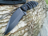 "6.75"" Tactical Full Tang Self Defense Black G10 Fixed Blade Neck Knife - Frontier Blades"