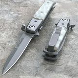"7"" Tac Force Pearl Assisted Folding Stiletto Pocket Knife (TF-438P) - Frontier Blades"