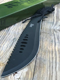 "21"" Tac Force Jungle Master Survival Hunting Military Machete Knife - Frontier Blades"