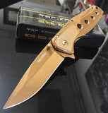 "7"" Tac Force Rose Gold Folding Pocket Knife (TF-926RG) - Frontier Blades"