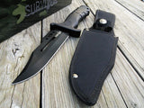 "13"" SURVIVAL HUNTING FIXED BLADE STAINLESS STEEL KNIFE Rubber Survivor Bowie - Frontier Blades"