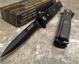 "7"" Tac Force Tactical Mini Milano Assisted Stiletto Pocket Knife - Frontier Blades"