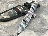 "9"" MTech Digital Camo Fixed Blade Dagger Military Boot Knife w/ Sheath - Frontier Blades"