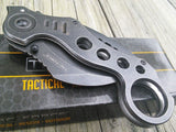 "TAC FORCE TF-578SW 7.75"" STONEWASHED KARAMBIT SPRING ASSISTED FOLDING KNIFE - Frontier Blades"