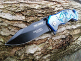 "7"" Tac Force Blue Dragon Strike Fantasy Tactical Mini Pocket Knife - Frontier Blades"