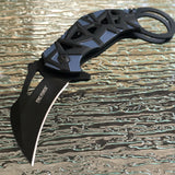 "TAC FORCE SPRING ASSISTED TACTICAL GRAY KARAMBIT FOLDING POCKET KNIFE OPEN 8.0"" - Frontier Blades"