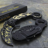 "8"" TAC FORCE KARAMBIT SPRING ASSISTED TACTICAL FOLDING KNIFE Blade Pocket Open - Frontier Blades"