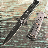 "TAC FORCE 7"" SILVER FOLDING OUTDOOR SAFETY POCKET KNIFE TF-698SL - Frontier Blades"