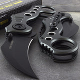 "7.75"" Tac Force Gray Tactical Karambit Pocket Knife (TF-578GY) - Frontier Blades"