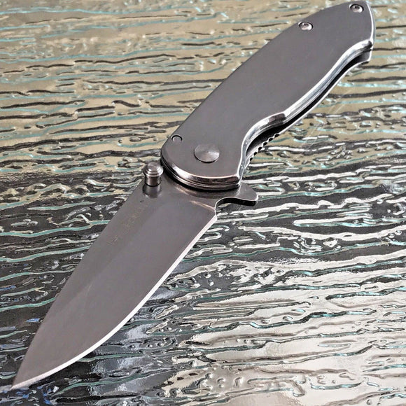 TAC FORCE EDC MIRROR BLADE SPRING ASSISTED TACTICAL FOLDING KNIFE Assist Open 7