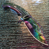 "8.75"" Tac Force Mermaid Tactical Rainbow Fantasy Folding Pocket Knife - Frontier Blades"