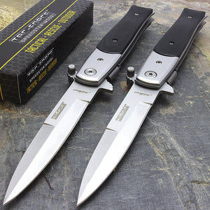 "TWO 8.5"" TAC FORCE ASSISTED OUTDOOR FOLDING POCKET KNIFE SET TF-428BW - Frontier Blades"