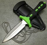 "6.5"" Z-Hunter Zombie Neck Knife Green Handle Spear Point Dagger Blade - Frontier Blades"