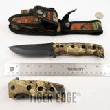 3 PCS HUNTING CAMPING KNIVES SET SURVIVAL CAMO WITH LED Light SHEATH NEW - Frontier Blades