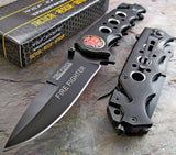 "8"" Tac Force EMT Fire Fighter Rescue Pocket Knife (TF-611FDB) - Frontier Blades"