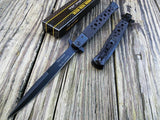 "12.5"" Tac Force Speedster Model Stiletto Assisted Black Pocket Knife - Frontier Blades"