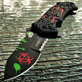 Z-HUNTER SPRING ASSISTED TACTICAL SURVIVAL ZOMBIE RED MONSTER CLAW POCKET KNIFE - Frontier Blades