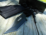 "7"" Survival Combat Fixed Tactical Black Tanto Blade Hunting Knife - Frontier Blades"