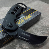TAC FORCE SPRING ASSISTED OPEN BLACK TACTICAL KARAMBIT CLAW FOLDING POCKET KNIFE - Frontier Blades