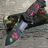 Z-Hunter Spring Assisted Zombie Red Monster Claw Fantasy Pocket Knife - Frontier Blades