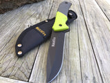 "10"" WatchFire Full Tang Survival Knife Green Handle Tactical Machete - Frontier Blades"