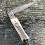 "8.5"" TAC FORCE SPRING ASSISTED TACTICAL PEARL STILETTO POCKET KNIFE Blade Assist - Frontier Blades"