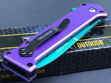 "BATMAN JOKER SPRING ASSISTED STILETTO FOLDING POCKET KNIFE Blade Two Tone 7.5"" - Frontier Blades"