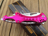TAC FORCE ASSISTED OPENING FOLDING PINK TACTICAL SURVIVAL POCKET KNIFE TF-705PK - Frontier Blades