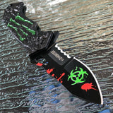 "7.75"" ZOMBIE HUNTER APOCALYPSE BIOHAZARD SPRING ASSISTED FOLDING POCKET KNIFE - Frontier Blades"