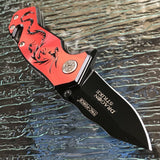 "5.75"" Tac Force Speedster Model Red Dragon Pocket Knife - Frontier Blades"