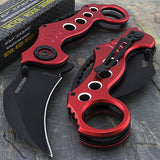 "RED TAC FORCE 7.75"" KARAMBIT SPRING ASSISTED FOLDING TACTICAL POCKET KNIFE Open - Frontier Blades"