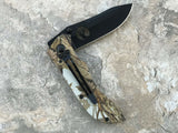 "8"" Elk Ridge Blade Woodland Jungle Camo Hunter Skinning Pocket Knife - Frontier Blades"