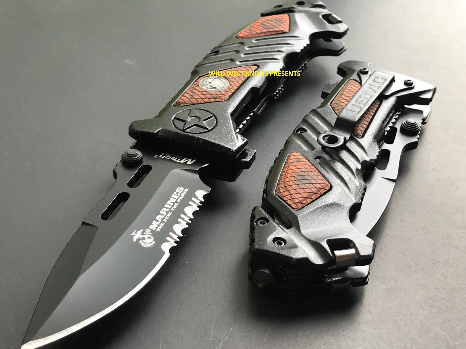 8 25 Mtech Us Marine Spring Assisted Official Pocket Knife Ma 1023wd