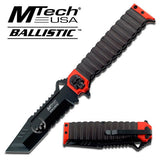 "MTECH BALLISTIC MT-A820RD 9.5"" TANTO GREEN SKULL SPRING ASSISTED FOLDING KNIFE - Frontier Blades"