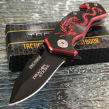 Tac Force Dragon Strike Fantasy Red & Black Tactical Mini Pocket Knife - Frontier Blades