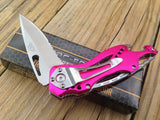 "8"" Tac Force Assisted Opening Folding Pink Handle Knife (TF-705PK) - Frontier Blades"