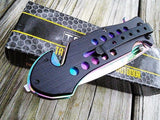 "8.0"" TAC FORCE SPRING ASSISTED TACTICAL RAINBOW FOLDING POCKET KNIFE Blade Open - Frontier Blades"