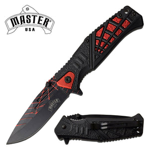 "8.35"" MASTER SPRING ASSISTED TACTICAL PURPLE HANDLE FOLDING Pocket KNIFE OPEN - Frontier Blades"