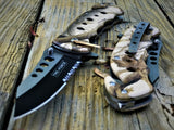 "7.5"" Tac Force Brown Woodland Camo Rescue Pocket Knife - Frontier Blades"